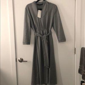 NWT Gray Zara V-Neck A-Line Midi Dress - Size M